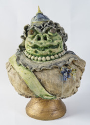 Bust of Victoria, Her 101st Year as Queen 1976 27 x 19 x 17 in. (68.6 x 48.3 x 43.2 cm) David James Gilhooly (American 1943 - ) Primary Medium and Support: glazed ceramic Credit Line: Gund Gallery Collection; gift of Mr. and Mrs. Graham Gund '63 Accession Number: 2015.2.13