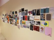 Installation view of the Postcard Pop-Up Show